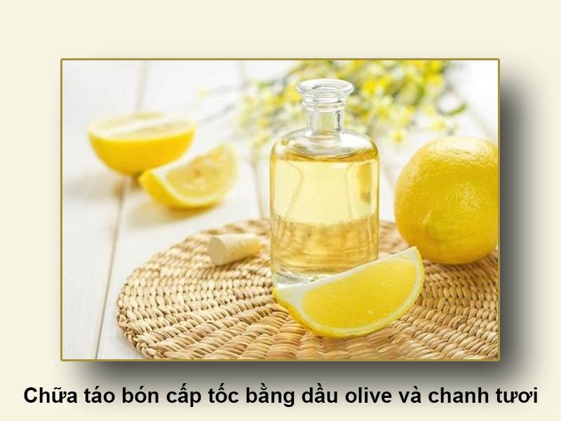 Chữa táo bón cấp tốc bằng dầu olive và chanh tươi